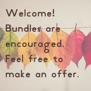 Bundle 2 Or More Items For A Great Deal!